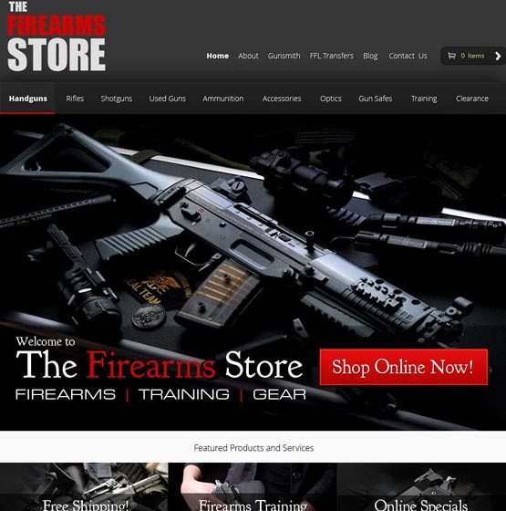 Website Design For Firearms Business